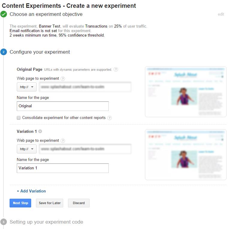 google-content-experiment-screen